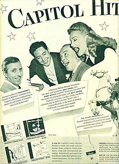 1945 - Capitol record hits.  ad (Image1)