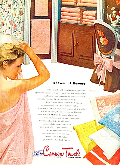 1945 - Cannon Towels ad (Image1)