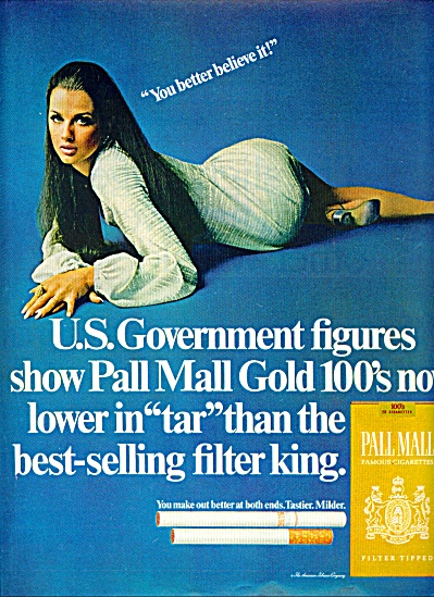 1969 - Pall Mall Cigarettes - Veronica Hamel