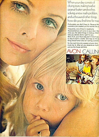 1969 - Avon Calling Ad Model Joan Thompson