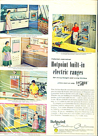 Hotpoint built in elect4ic ranges ad 1957 (Image1)