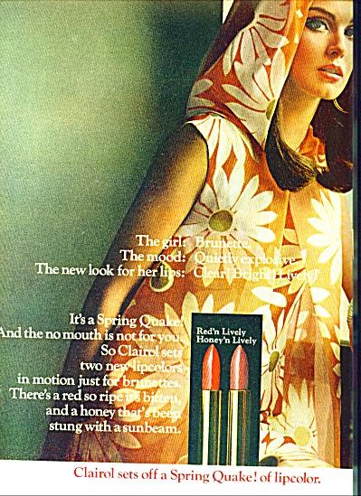 1967 -  Clairol lipstick ad (Image1)
