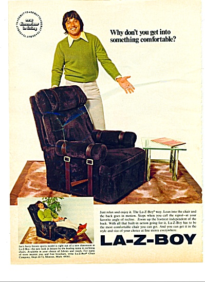 1972 -  La-Z-boy -   JOE NAMATH (Image1)