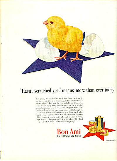 1943 -  Bon Ami for bathtubs and sinks ad (Image1)