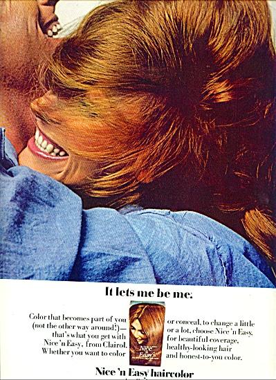 1972 - Nice 'n Easy haircolor ad (Image1)