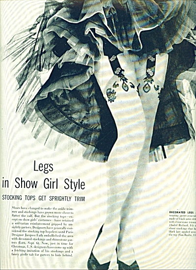 1954 -  Legs in shoiw girl style ad (Image1)