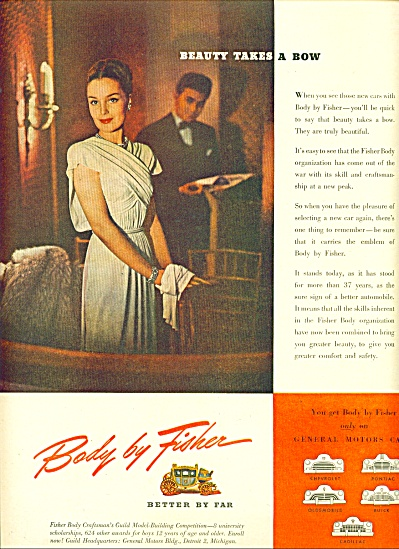 1945 -  Body by Fisher ad (Image1)