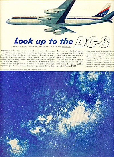1959 -  Douglas DC-8 airplane ad (Image1)