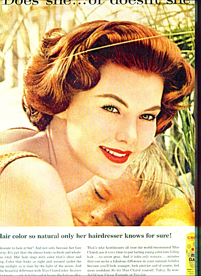 1959 - Miss Clairol  hair color bath ad (Image1)