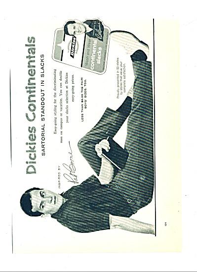 1959 - Dickies   continental slacks - P.BOONE (Image1)