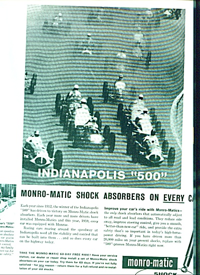 1959 - Monro-matic Shock Absorbers Ad