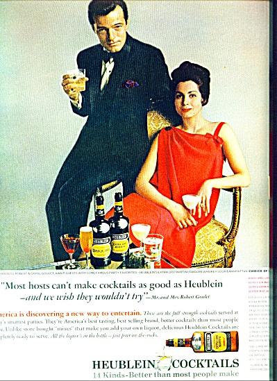 1959 -  Heublein cocktails - ROBERT GOULET (Image1)