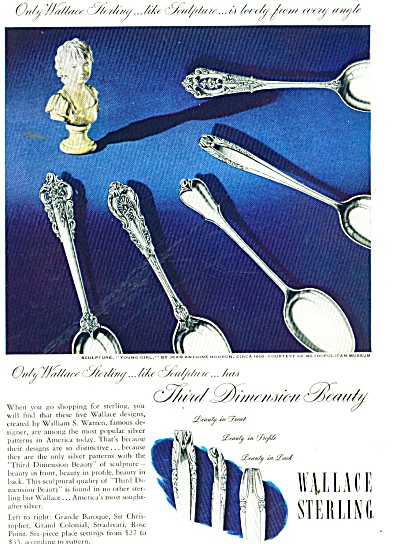 Wallace Sterling Ad 1949