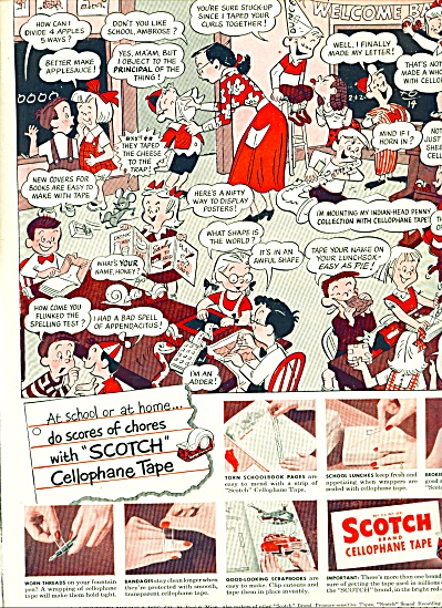 1950 -  Scotch cellophane tape ad (Image1)