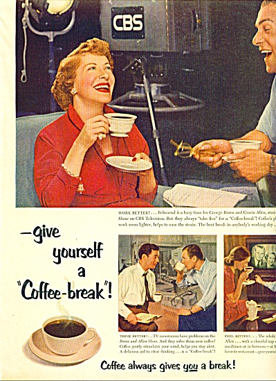 1953 -  Coffee b reak - BURNS & ALLEN (Image1)