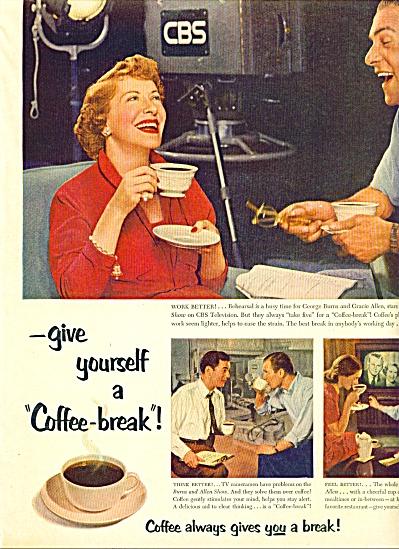 1953 -  Coffee b reak - BURNS & ALLEN (Image1)