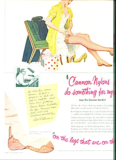 1951 - Cannon nylon stockings ad (Image1)