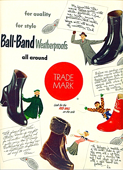 1951 - Ball-band weatherproofs ad (Image1)