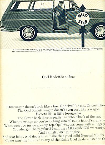 1964 -  Opel Kadett auto ad (Image1)