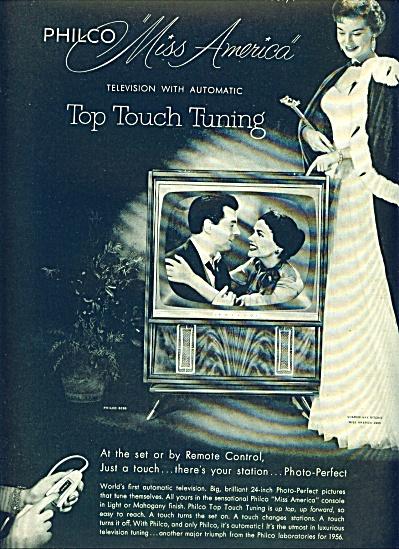 1955 -  Philco television - MISS AMERICA (Image1)