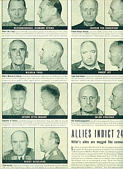 1945 -  Allies indict 24 top Nazis war crimes (Image1)