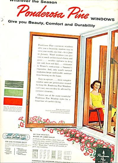 Ponderosa Pine windows ad 1957 (Image1)
