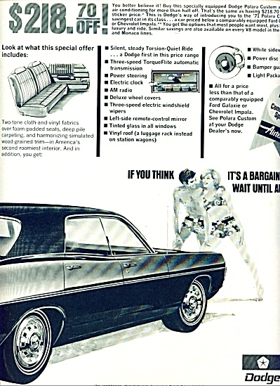 1970 -  Dodge automobile ad (Image1)