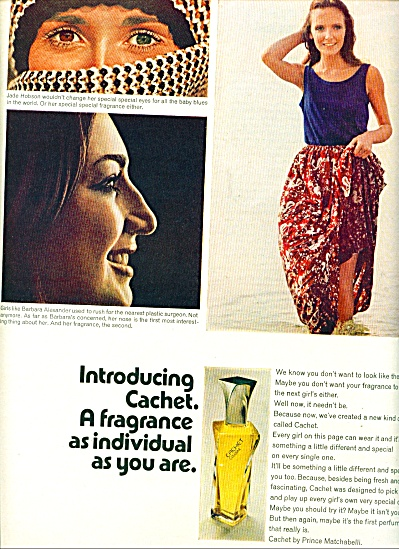 1970 -  Cachet by PRINCE  Matchabelli ad (Image1)