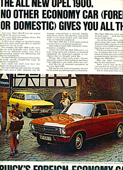 1970 -  Buick's Opel automobile ad (Image1)