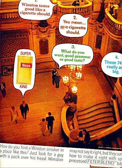 1970 - Winston cigarettes ad (Image1)