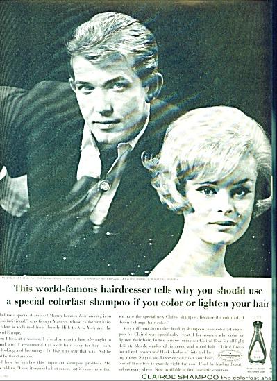 1962 -  Clairol shampoo ad RENATA BLACK Model (Image1)