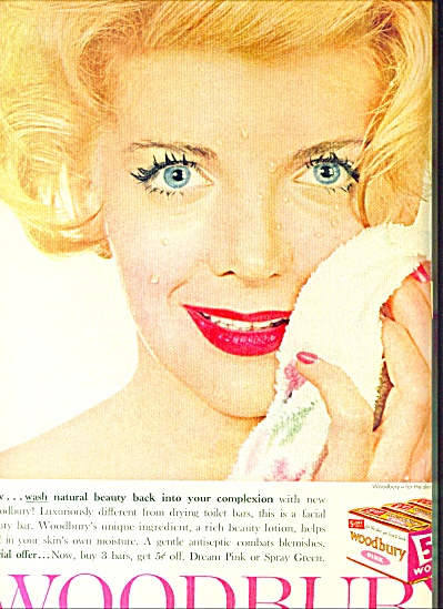1960 -  Woodbury soap ad FASHION MODEL (Image1)