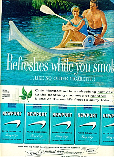 1960 -  Newport filter cigarettes ad (Image1)