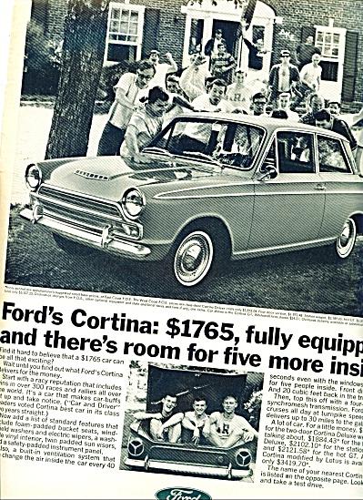 1966 - Ford Cortina auto ad (Image1)