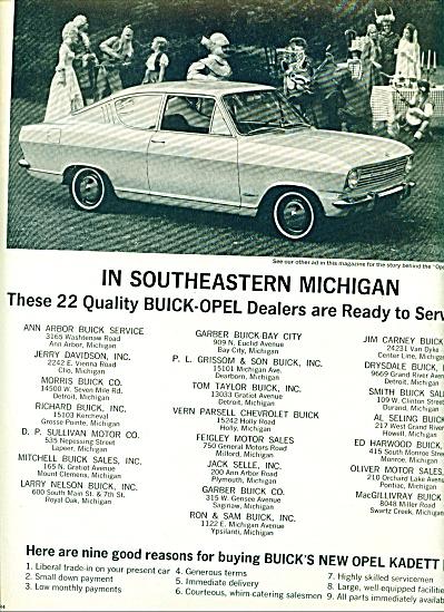 1966 =  Opel Kadett auto ad (Image1)