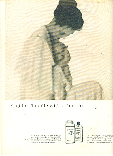 Johnson's Baby powder and oil ad 1957 (Image1)