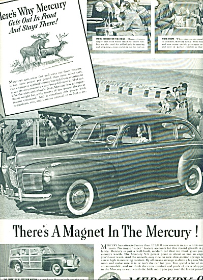 1941 - Mercury 8 Automobile Ad