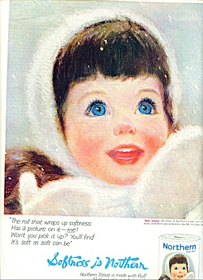 1964 -  Northern tissue ad WINTER GIRL (Image1)