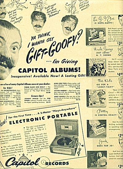1941 -  Capitol records ad JERRY COLONNA (Image1)