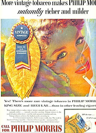 1955 -  Philip Morris cigarettes ad (Image1)