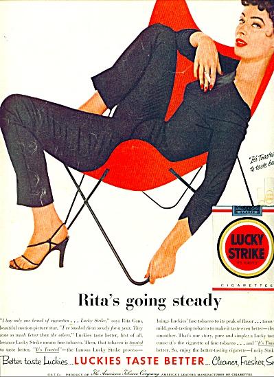 1955 - Lucky Strike cigarettes - RITA GAM (Image1)