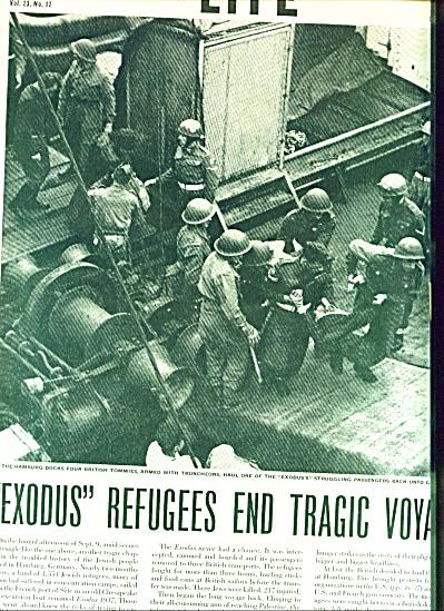 1947 -  Exodus refugees end tragic vogage. (Image1)
