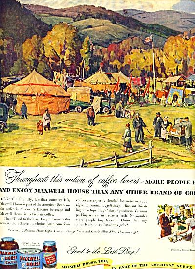1947 -  Maxwell House coffee ad ALDRO HIBBARD ART (Image1)