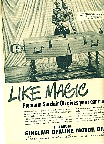 1947 - Sinclair opaline motor oil ad (Image1)