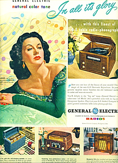 1947 - General Electric radios - HEDY LAMARR (Image1)