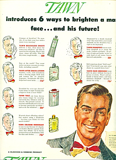 1947 -  DAWN toiletries for men ad (Image1)