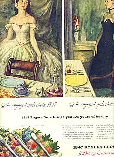 1947 -  1847 Rogers Bros. silverware ad (Image1)