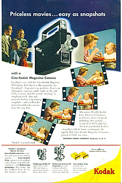 Kodak Magazine Camera Ad 1949