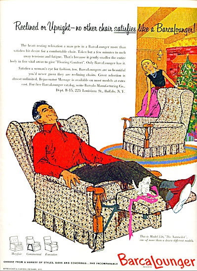 1959 - BarcaLounger chairs ad (Image1)