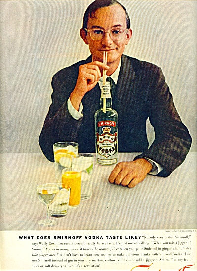 Smirnoff Vodka - Wally Cox
